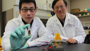 The researchers at Virginia Tech have successfully demonstrated the concept of a sugar biobattery that can completely convert the chemical energy in sugar substrates into electricity. Credit: Virginia Tech University