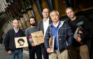 The band of researches at Karolinska Institutet have been partaking in a 17-year contest to see who can quote Bob Dylan the most in scientific articles before going into retirement. Credit: Karolinska Institutet