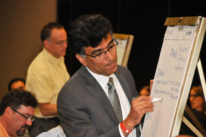 Brainstorming breakout session at the Electrochemical Water and Energy Summit