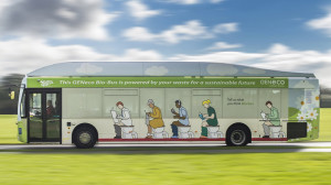 "The Bio-Bus, nicknamed ""the number two,"" will transport riders between Bath and Bristol.Credit: GENeco"