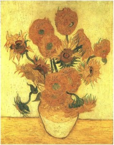 "By examining paint segments from Van Gough's ""Sunflowers,"" experts believe preservation techniques could be improved.Credit: Van Gogh Gallery"