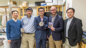 An interdisciplinary team from the McCormick School of Engineering and Applied Science discovered that using the data storage pattern from a Blu-ray disc improves solar cell performance and that video content doesn't matter.Credit: Northwestern University