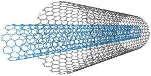 Carbon nanotubes are exceptionally strong, but when you roll two that fit together, the engineers believe they've got a nanomotor.Image: Nature