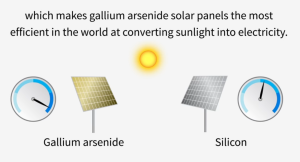 Silicon is the common material used in solar cells and computer chips, but gallium arsenide is an alternative material with many advantages. Image: YouTube/Stanford University