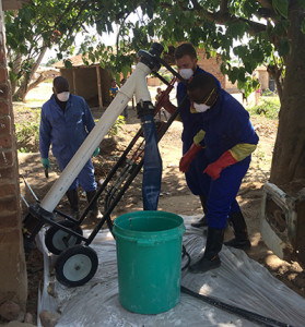 The Excrevator will help put an end to emptying pit latrines by hand.Image: NC State University