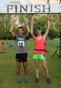 Top male and female finishers,
