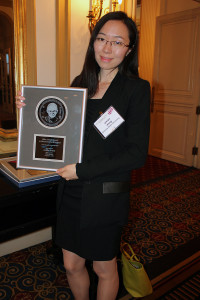Arizona State University's Yixian Wang and the Allen J. Bard Award.