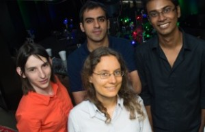 Rice University researchers (clockwise from left) Chloe Doiron, Hossein Robatjazi, Shah Mohammad Bahauddin and Isabell Thomann.