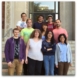 The newly established UCLA student chapter: Front: Ben Lesel, Sarah H. Tolbert, Clair Shen, Yan YanMiddle: Ty Karaba, Terri Lin, John B. CookBack: Allen Liang, Erick Harr, Dan Baumann