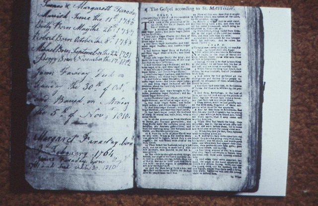 Michael Faraday notebooks